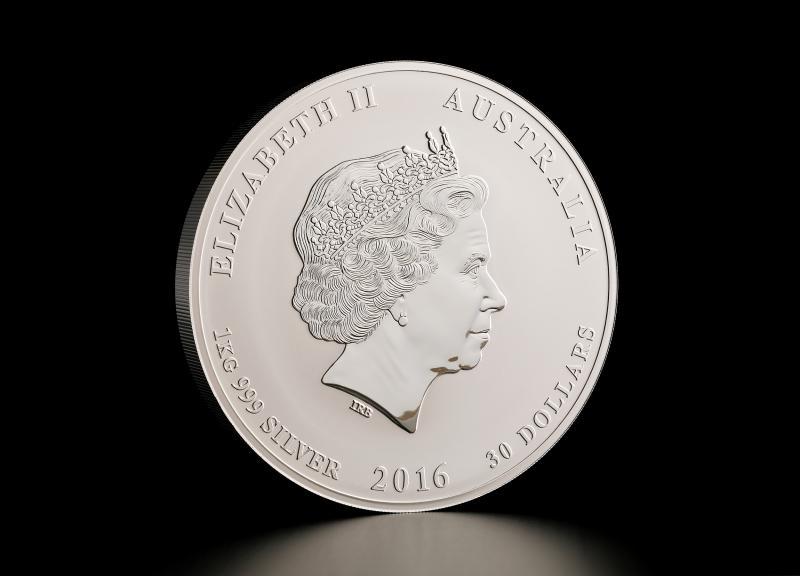 2016 1 kg Australisk Silver Lunar – Apans År