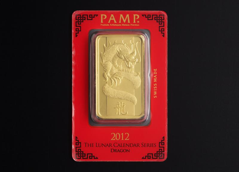 100 gram Gold Bars PAMP Lunar Dragon