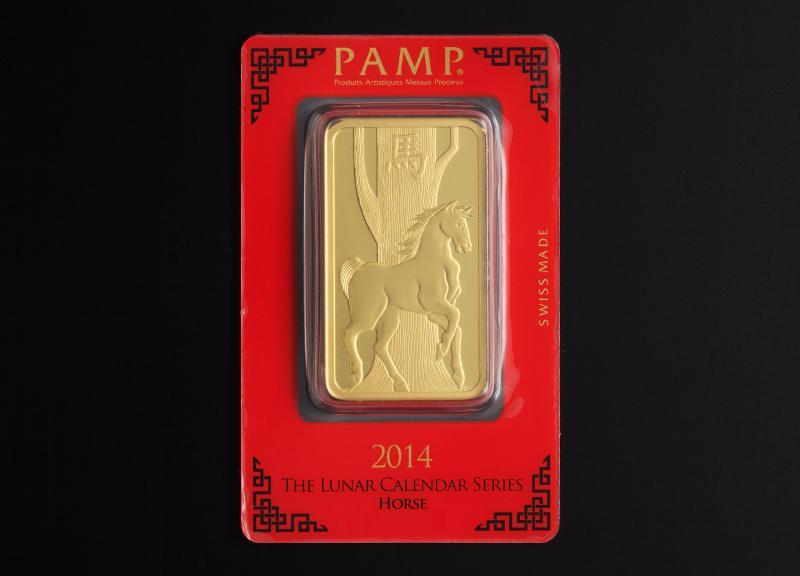 100 gram Gold Bars PAMP Lunar Horse
