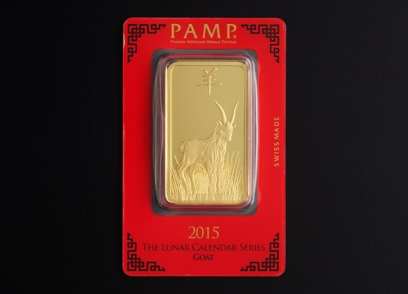 100 gram Guldtacka PAMP Lunar Geten