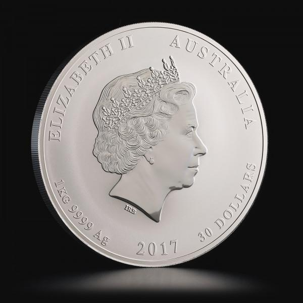 2017 1 kg Australian Silver Lunar Year of the Rooster