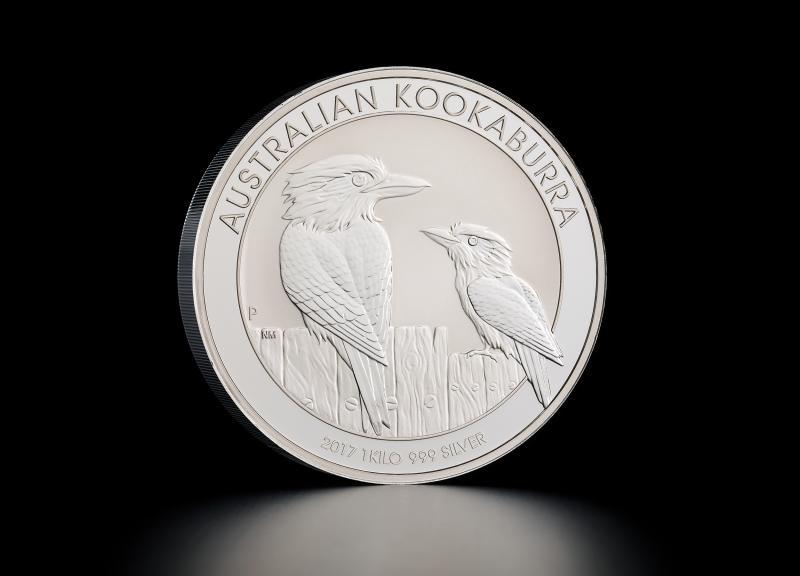 2017 1 kg Australisk Silver Kookaburra
