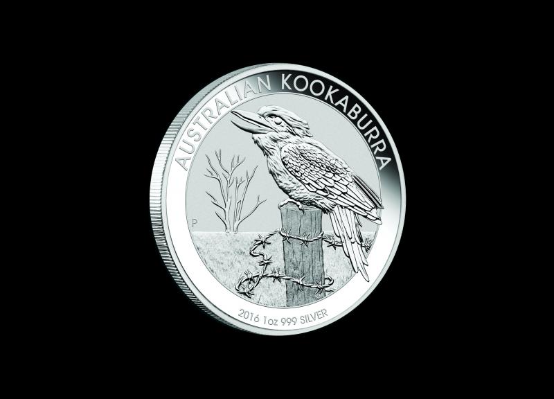 2016 1 kg Australisk Silver Kookaburra