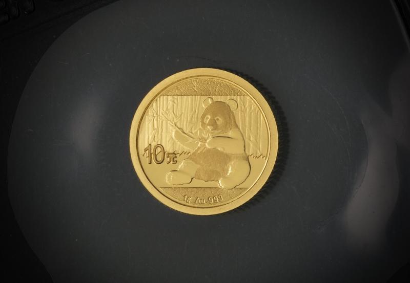 2017 1 g Kinesisk Guld Panda