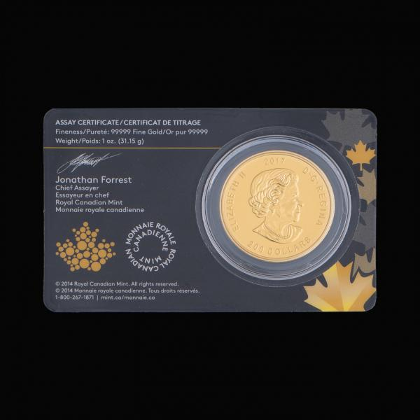 2017 1 oz Canadian Gold Elk Coin