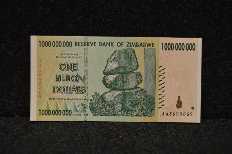 Zimbabwe 1-Billion dollar