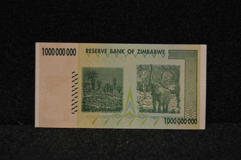 1 miljard Zimbabwedollar