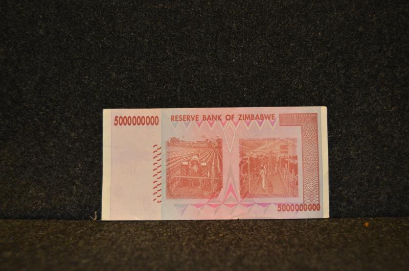 5 miljarder Zimbabwedollar