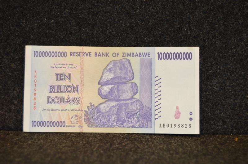 Zimbabwe 10-Billion dollar