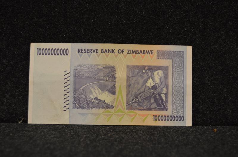 10 miljarder Zimbabwedollar