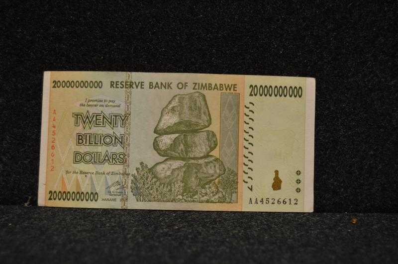 Zimbabwe 20-Billion dollar