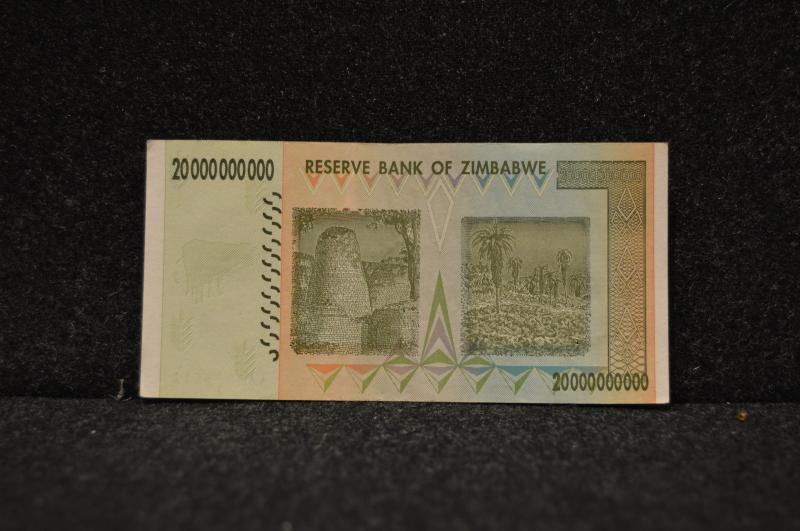 20 miljarder Zimbabwedollar