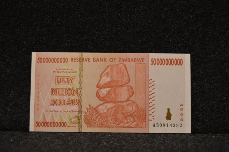 50 miljarder Zimbabwedollar