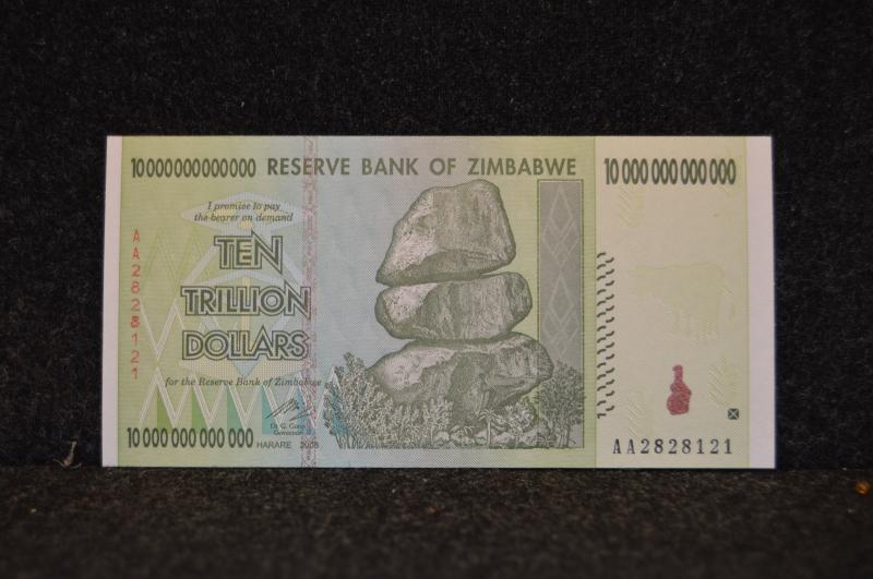 10 biljoner Zimbabwedollar