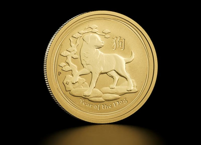 2018 1/2 oz Australian Gold Lunar Year of the Dog