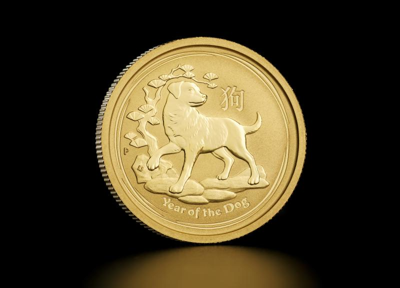 2018 1/4 oz Australian Gold Lunar Year of the Dog