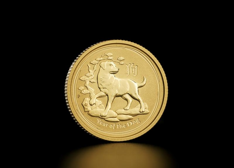 2018 1/10 oz Australian Gold Lunar Year of the Dog