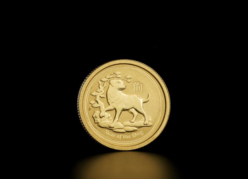 2018 1/20 oz Australian Gold Lunar Year of the Dog