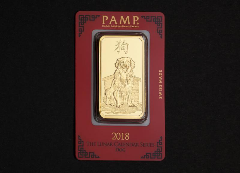 2018 100g PAMP Australisk Guld Lunar – Hundens År