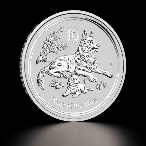 2018 1 kg Australian Silver Lunar Year of the Dog