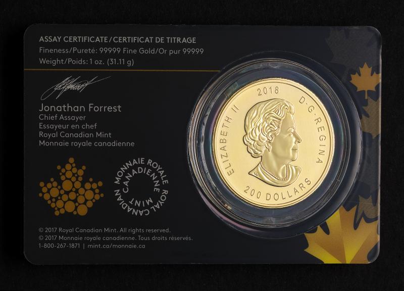 1 oz Canadian Golden Eagle 2018 Gold Coin 999.99
