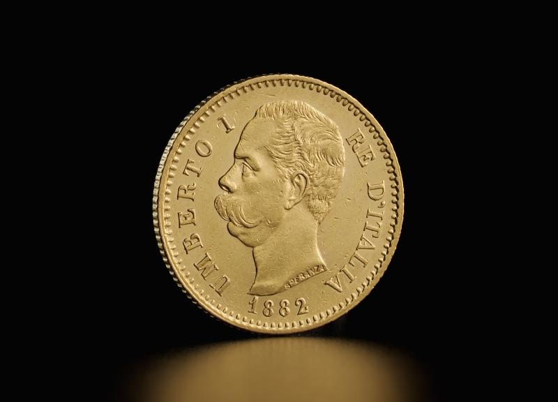 Italiensk 20 lira Umberto I
