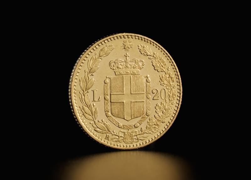 Italian 20 Lira Umberto I