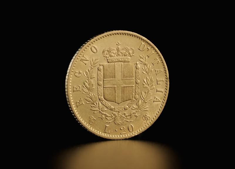 Italian 20 Lira Vittorio Emanuele II