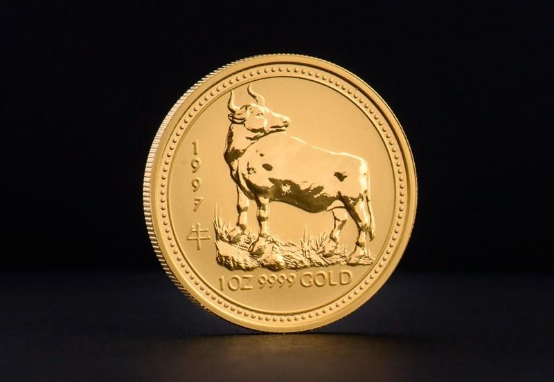 1997 1 oz Australisk Guld Lunar – Oxens År