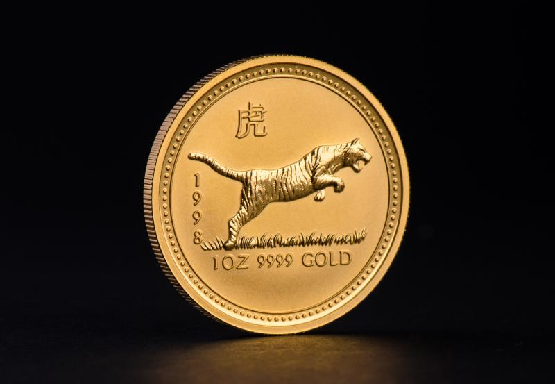 1998 1 oz Australian Gold Lunar Year of the Tiger