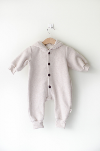 Sleepy Fox Nude Marl Fleece Kombinesoon - Beez