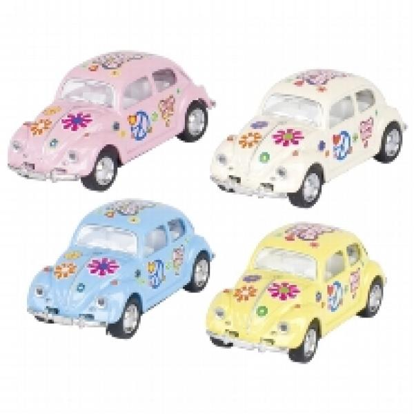 i Volkswagen Classical Beetle-small pull back- Flowers