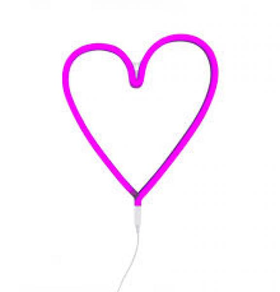 Neon Lights-Pink Heart