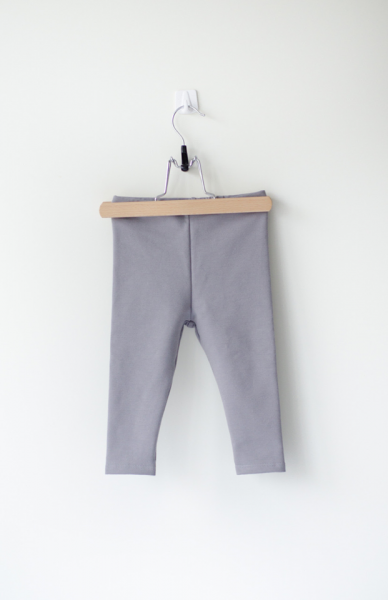 Sleepy Fox Valged Leggings-Organic Cotton