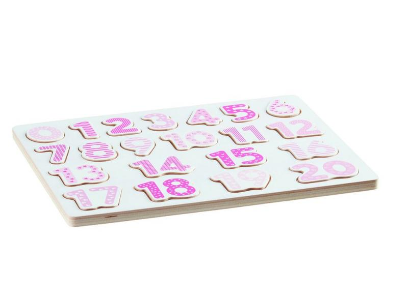 Kids Concept Number Board-Pink