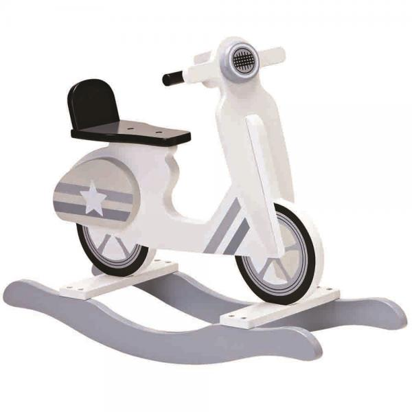 Kids Concept Rocking Moped-Grey