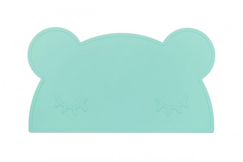 We Might Be Tiny Placemat Bear-Mint