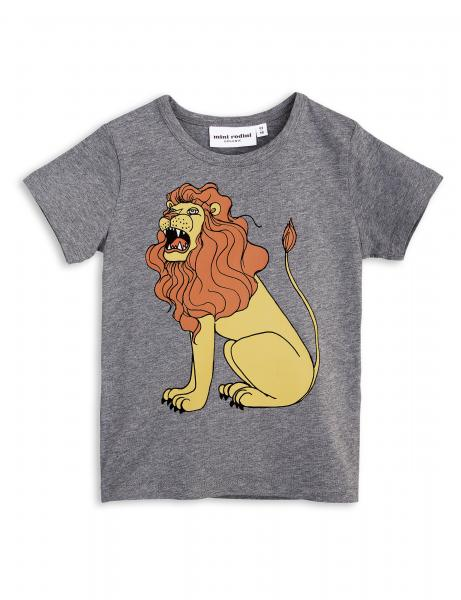 Mini Rodini Lion SP SS Tee-Grey Melange