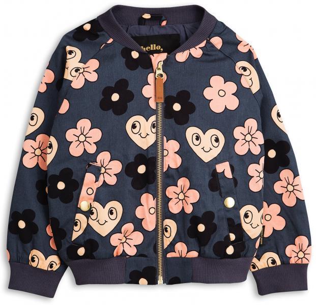 Mini Rodini Flowers Summer Jacket-Grey