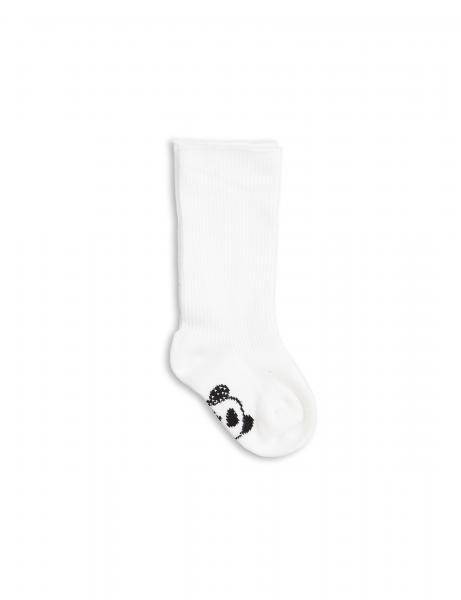 Mini Rodini Panda Baby Sock-White