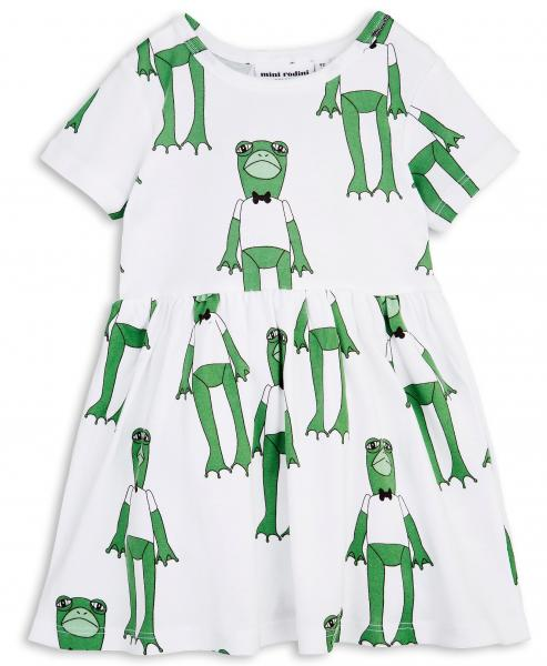 Mini Rodini Frogs SS Dress-Green