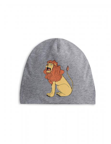 Mini Rodini Lion SP Beanie-Grey Melange