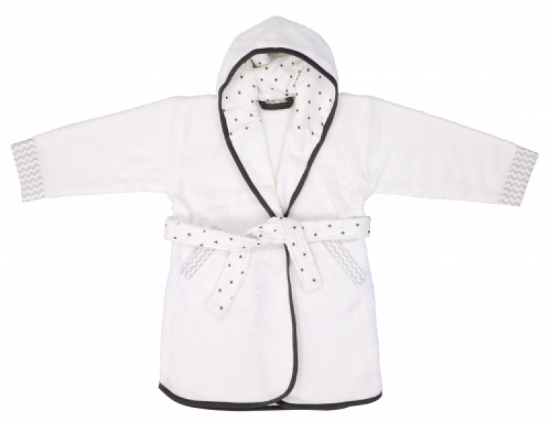 Luma bathrobe Mixed White