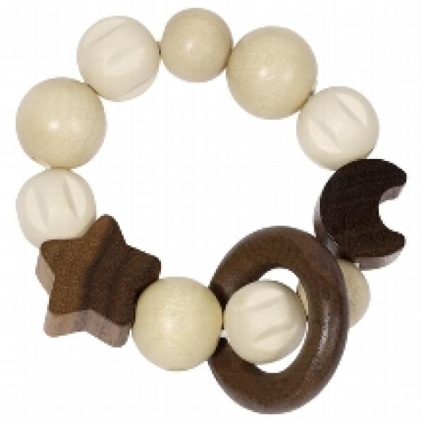 Goki Touch ring elastic moon and star Wood - 734930