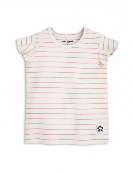 Mini Rodini Stripe Rib Wing Tee