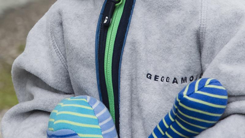 Geggamoja fleece overall Grey melange 26