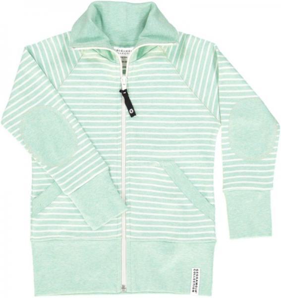 Geggamoja Zipsweater Green Mel/White 30