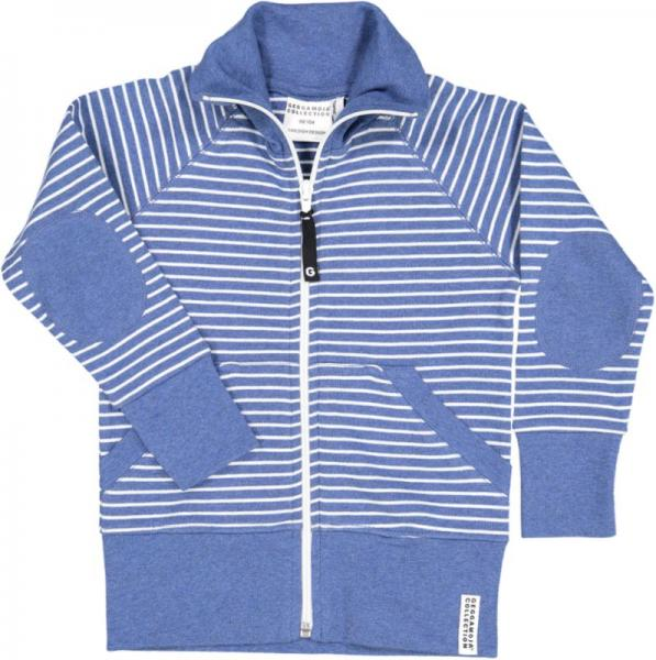 Geggamoja Zipsweater Marin Mel/White 30