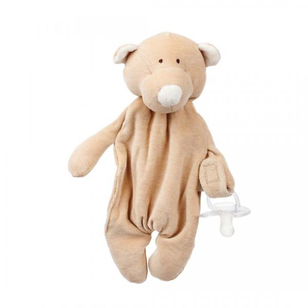 Wooly Organic Comforter With Dummy Holder- Teddy