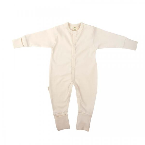 Wooly Organic Sleepsuit-Ecru  Color